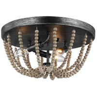 Sea Gull 7501903EN-872 Oglesby 3 Light 14 inch Washed Pine Flush Mount Ceiling Light