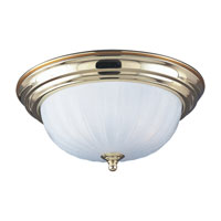 Sea Gull Lighting Linwood 3 Light Flush Mount in Polished Brass 7506-02