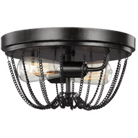 Sea Gull Kelvyn Park 2 Light Flush Mount in Stardust 7510102-846