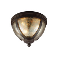 Sfera 3 Light 14 inch Autumn Bronze Flush Mount Ceiling Light