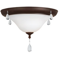 West Town 2 Light 17 inch Burnt Sienna Flush Mount Ceiling Light in Fluorescent
