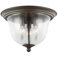 Sea Gull 7514503-782 Belton 3 Light 11 inch Heirloom Bronze Flush Mount Ceiling Light