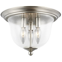 Sea Gull 7514503-962 Belton 3 Light 11 inch Brushed Nickel Flush Mount Ceiling Light