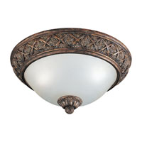 Highlands 2 Light 16 inch Regal Bronze Flush Mount Ceiling Light