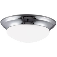 Nash 1 Light 12 inch Chrome Flush Mount Ceiling Light