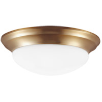 Nash 3 Light 17 inch Satin Bronze Flush Mount Ceiling Light