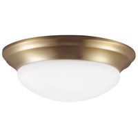 Sea Gull 7543593S-848 Nash LED 14 inch Satin Bronze Flush Mount Ceiling Light