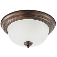 Sea Gull Holman 3 Light Flush Mount in Bell Metal Bronze 75443-827