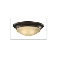 Sea Gull 75446EN3-782 Nash 3 Light 17 inch Heirloom Bronze Flush Mount Ceiling Light