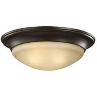 Sea Gull 75446-782 Nash 3 Light 17 inch Heirloom Bronze Flush Mount Ceiling Light