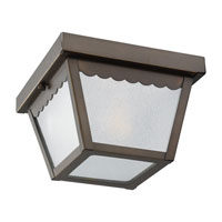 Signature 1 Light 8 inch Antique Bronze Outdoor Ceiling Fixture