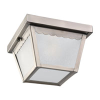 Sea Gull Lighting Signature 1 Light Outdoor Ceiling Fixture in Antique Brushed Nickel 75467-965 photo thumbnail