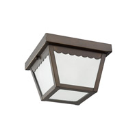 Sea Gull 75467EN3-71 Signature 1 Light 8 inch Antique Bronze Outdoor Flush Mount