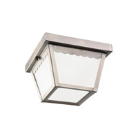 Signature 1 Light 8 inch Antique Brushed Nickel Outdoor Flush Mount