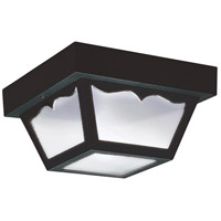 Signature 1 Light 8 inch Clear Outdoor Ceiling Fixture in Black