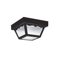 Sea Gull 7567EN3-32 Signature 1 Light 8 inch Black Outdoor Flush Mount