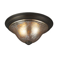 Sea Gull 7570402BLE-736 Blayne 2 Light 16 inch Platinum Oak Flush Mount Ceiling Light in Fluorescent