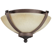 Sea Gull Corbeille 2 Light Flush Mount in Stardust / Cerused Oak 7580402-846