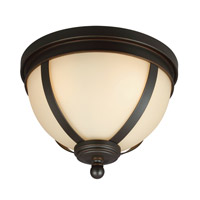 Sea Gull Sfera 3 Light Flush Mount in Autumn Bronze 7590403-715