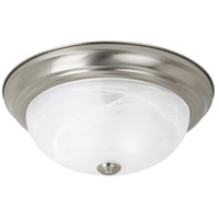 Windgate 3 Light 15 inch Brushed Nickel Flush Mount Ceiling Light in Standard