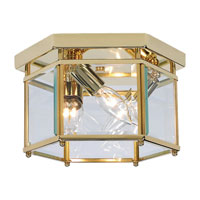 Sea Gull Lighting Bretton 3 Light Flush Mount in Polished Brass 7648-02 photo thumbnail