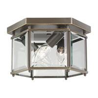 Sea Gull 7648-782 Bretton 3 Light 10 inch Heirloom Bronze Flush Mount Ceiling Light