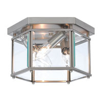 Sea Gull Lighting Bretton 3 Light Flush Mount in Brushed Nickel 7648-962
