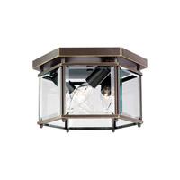 Sea Gull 7648EN-782 Bretton 3 Light 10 inch Heirloom Bronze Flush Mount Ceiling Light