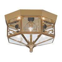 Sea Gull Lighting Grandover 3 Light Flush Mount in Polished Brass 7661-02