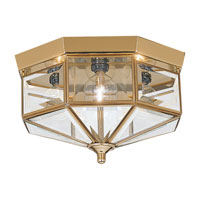 Grandover 4 Light 11 inch Polished Brass Flush Mount Ceiling Light