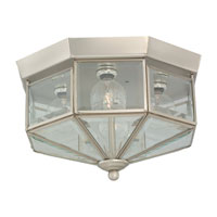 Grandover 4 Light 11 inch Brushed Nickel Flush Mount Ceiling Light