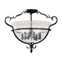 Manor House 6 Light 22 inch Weathered Iron Semi-Flush Mount Ceiling Light