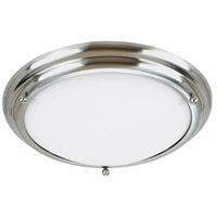 Centra 3 Light 21 inch Brushed Stainless Flush Mount Ceiling Light