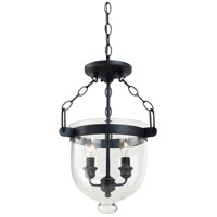 Sea Gull Lighting Westminster 2 Light Semi-Flush Convertible Pendant in Autumn Bronze 77046-715