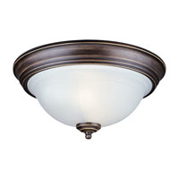 Sea Gull Lighting Canterbury 2 Light Flush Mount in Antique Bronze 77050-71 photo thumbnail