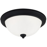 Signature 1 Light 11 inch Blacksmith Flush Mount Ceiling Light in Satin Etched Glass, Standard