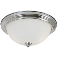 Sea Gull 77064-05 Signature 2 Light 13 inch Chrome Flush Mount Ceiling Light in Satin Etched Glass, Standard photo thumbnail
