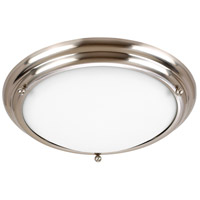 Sea Gull Lighting Centra 2 Light Flush Mount in Brushed Stainless 77087-98