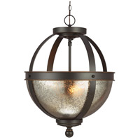 Autumn Bronze Steel Sfera Semi-Flush Mounts