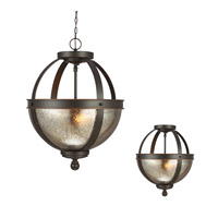 Sfera 2 Light 14 inch Autumn Bronze Semi-Flush Convertible Pendant Ceiling Light in Fluorescent