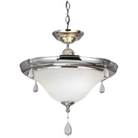 West Town 2 Light 17 inch Chrome Flush Mount Ceiling Light in Fluorescent