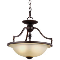 Trempealeau 2 Light 14 inch Roman Bronze Semi Flush Ceiling Light in Fluorescent