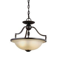 Trempealeau 2 Light 14 inch Roman Bronze Convertible Pendant Ceiling Light