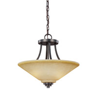 Sea Gull 7713002EN3-845 Parkfield 2 Light 15 inch Flemish Bronze Semi-Flush Convertible Pendant Ceiling Light