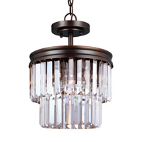 Sea Gull 7714002EN3-710 Carondelet 2 Light 11 inch Burnt Sienna Semi-Flush Convertible Pendant Ceiling Light