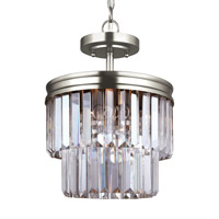 Carondelet 2 Light 11 inch Antique Brushed Nickel Semi-Flush Convertible Pendant Ceiling Light