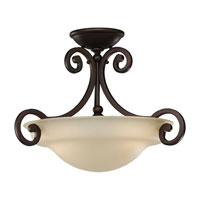 Sea Gull Lighting Acadia 2 Light Semi-Flush Mount in Misted Bronze 77145-814