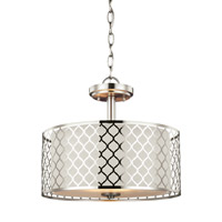 Sea Gull 7715502EN3-962 Jourdanton 2 Light 15 inch Brushed Nickel Semi-Flush Convertible Pendant Ceiling Light