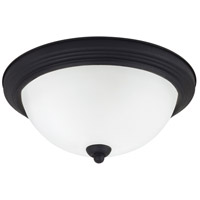 Signature 2 Light 13 inch Blacksmith Flush Mount Ceiling Light in Satin Etched Glass