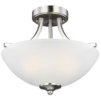 Geary 2 Light 14 inch Brushed Nickel Semi-Flush Convertible Pendant Ceiling Light